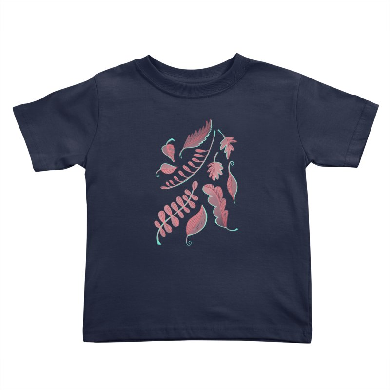 Falling Leaves Kids Toddler T-Shirt by Sam Osborne Store