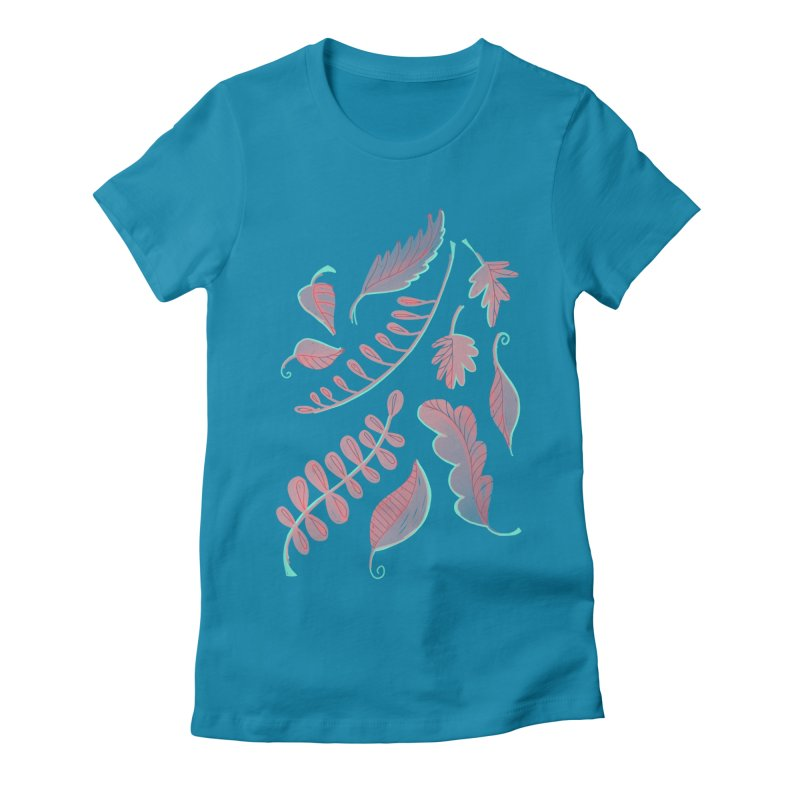 Falling Leaves Women's Fitted T-Shirt by Sam Osborne Store