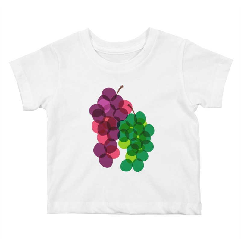 Grapes Kids Baby T-Shirt by Sam Osborne Store