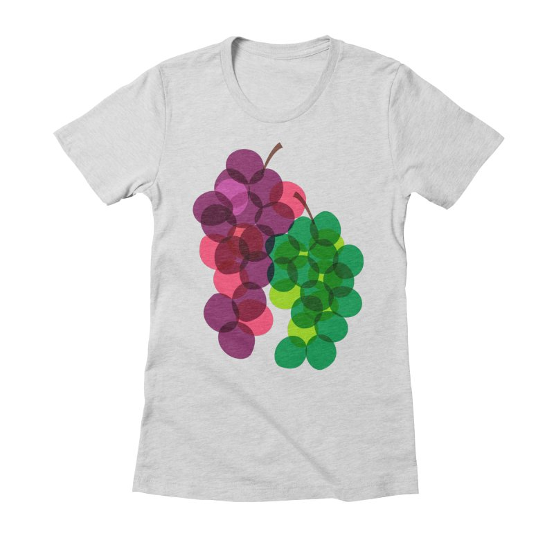 Grapes Women's Fitted T-Shirt by Sam Osborne Store
