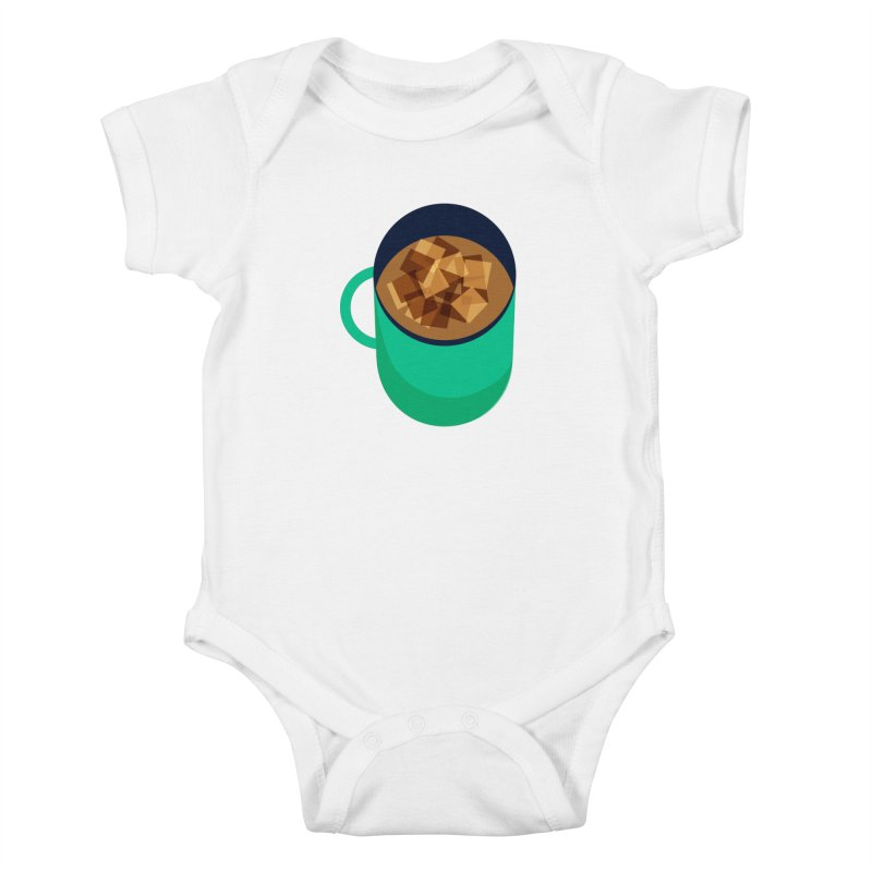 Coffee Mug Kids Baby Bodysuit by Sam Osborne Store