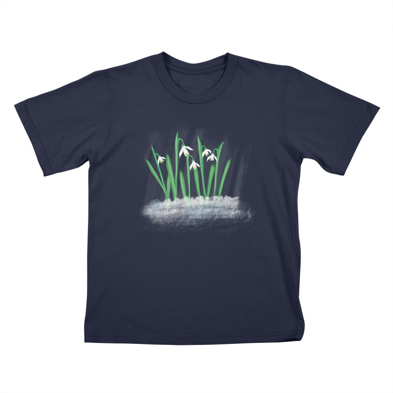 Snow drops Kids T-shirt by Sam Osborne Store