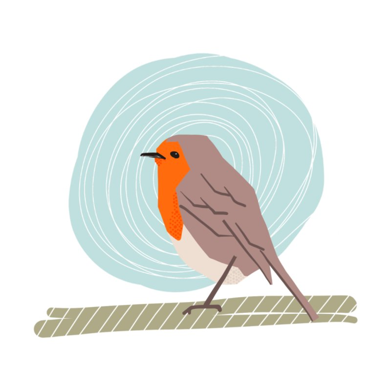 Happy Robin None  by Sam Osborne Store