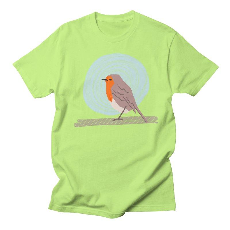 Happy Robin Men's Regular T-Shirt by Sam Osborne Store