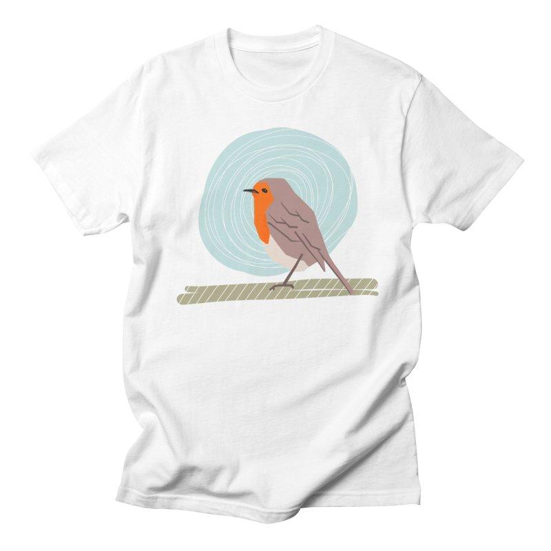 Happy Robin Men's T-Shirt by Sam Osborne Store