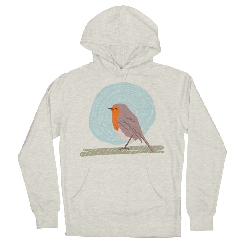 Happy Robin Men's French Terry Pullover Hoody by Sam Osborne Store