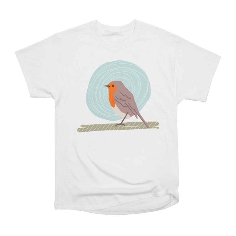 Happy Robin Women's Heavyweight Unisex T-Shirt by Sam Osborne Store