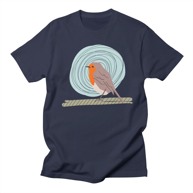 Happy Robin Men's Regular T-Shirt by Sam Osborne Store