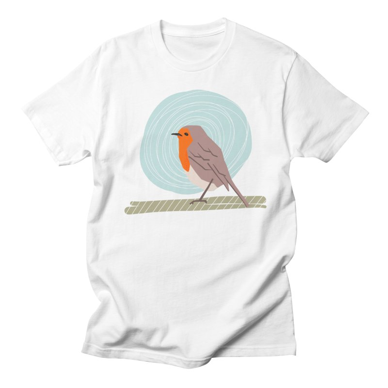 Happy Robin Women's Regular Unisex T-Shirt by Sam Osborne Store