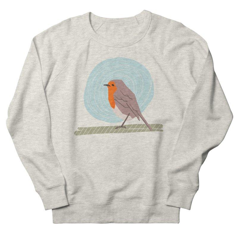 Happy Robin Women's French Terry Sweatshirt by Sam Osborne Store