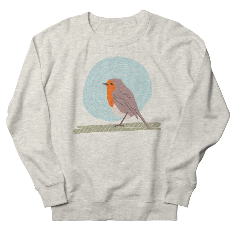 Happy Robin Men's French Terry Sweatshirt by Sam Osborne Store