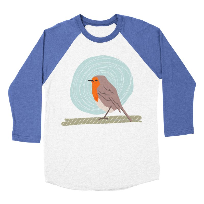 Happy Robin Women's Baseball Triblend Longsleeve T-Shirt by Sam Osborne Store