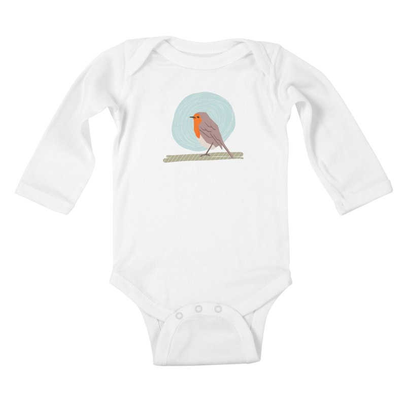 Happy Robin Kids Baby Longsleeve Bodysuit by Sam Osborne Store