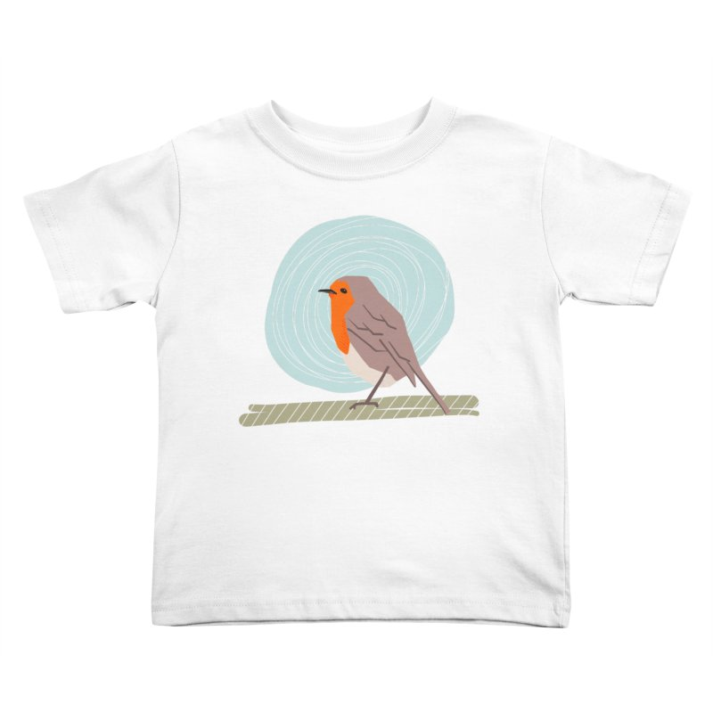 Happy Robin Kids Toddler T-Shirt by Sam Osborne Store