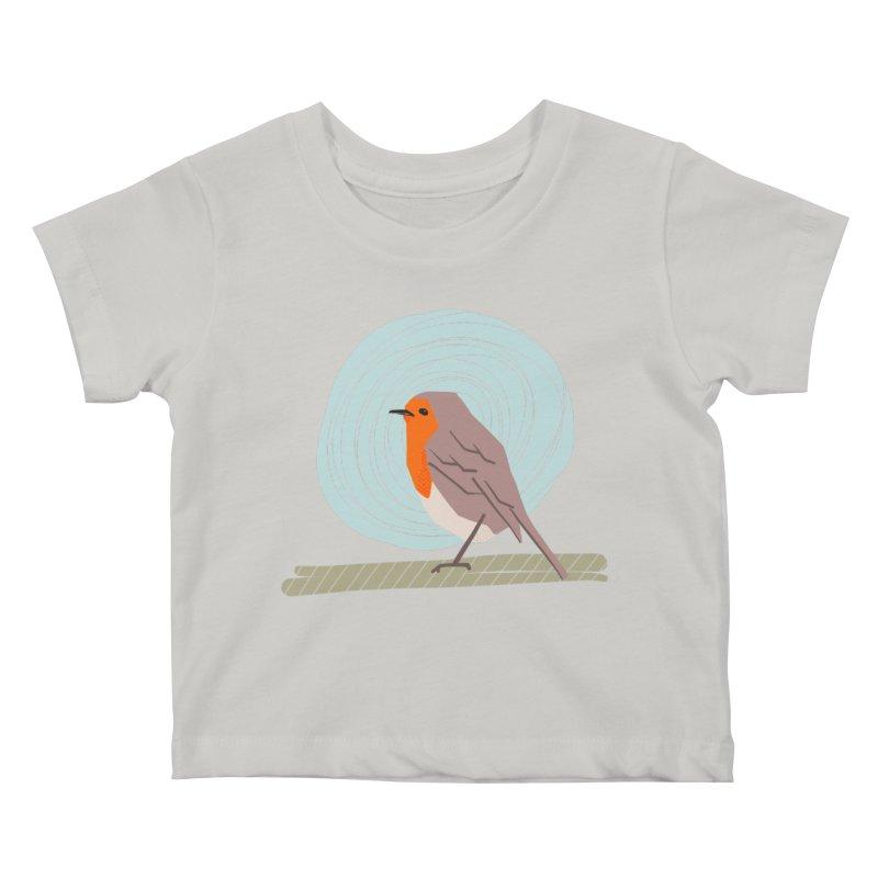 Robin Kids Baby T-Shirt by Sam Osborne Store