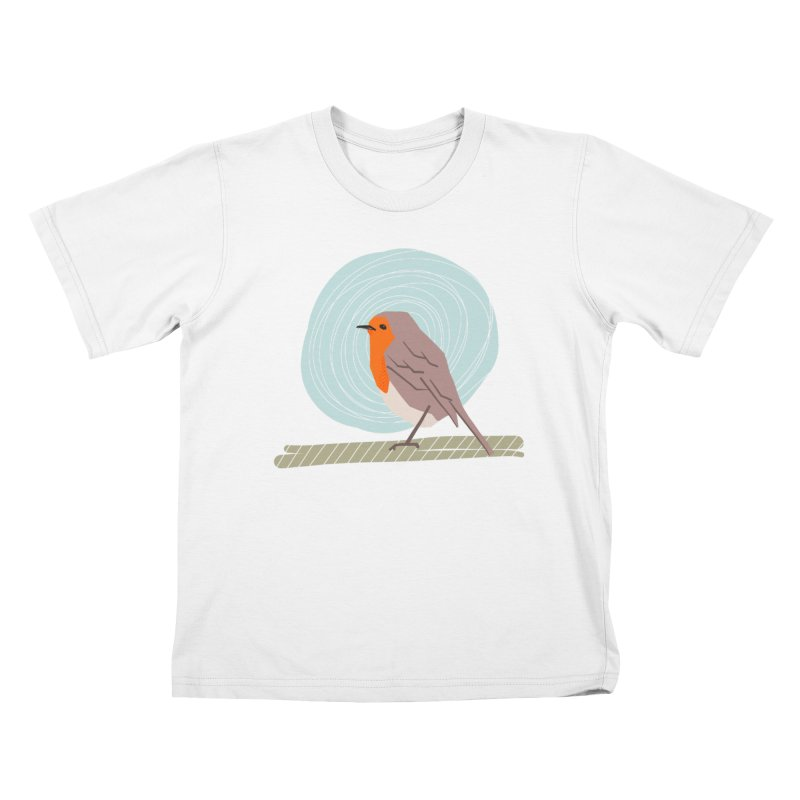 Happy Robin Kids T-Shirt by Sam Osborne Store