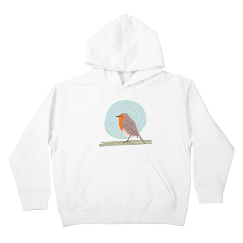 Happy Robin Kids Pullover Hoody by Sam Osborne Store