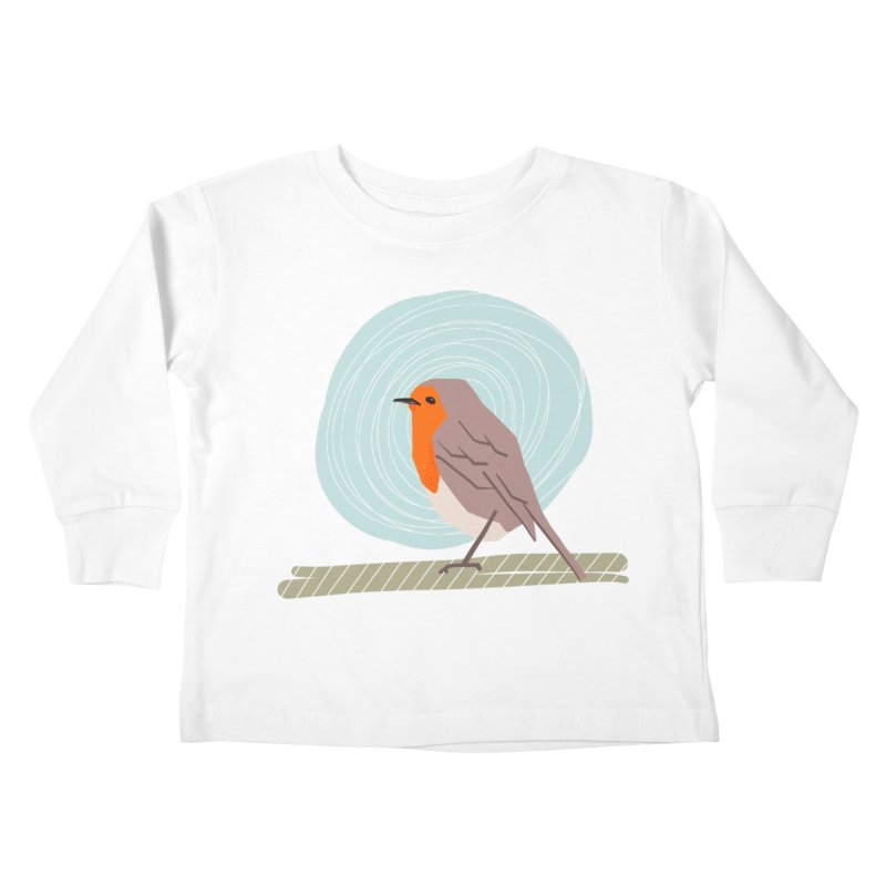 Happy Robin Kids Toddler Longsleeve T-Shirt by Sam Osborne Store