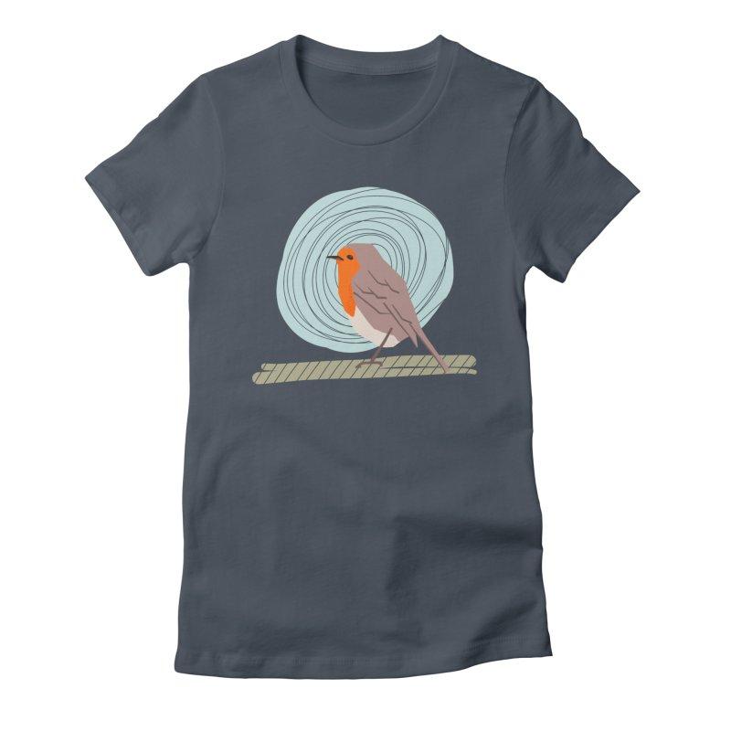 Happy Robin Women's T-Shirt by Sam Osborne Store