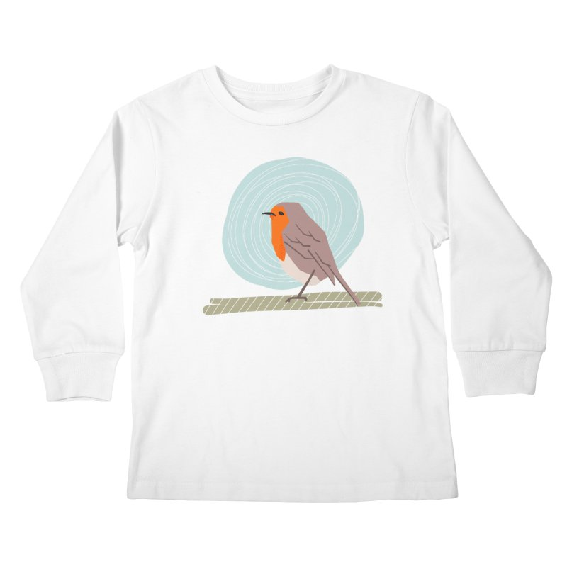 Happy Robin Kids Longsleeve T-Shirt by Sam Osborne Store