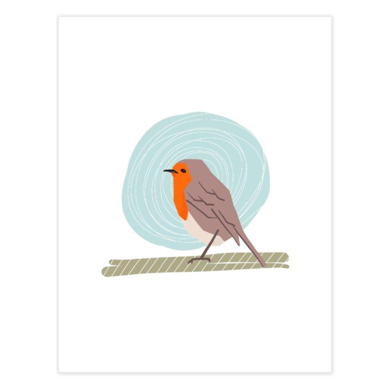 Happy Robin Home Fine Art Print by Sam Osborne Store