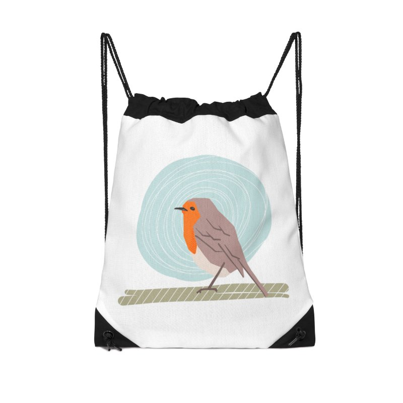 Happy Robin Accessories Drawstring Bag Bag by Sam Osborne Store