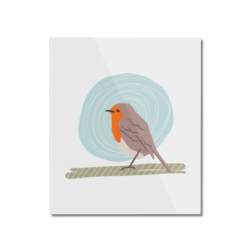 Happy Robin Home Mounted Acrylic Print by Sam Osborne Store