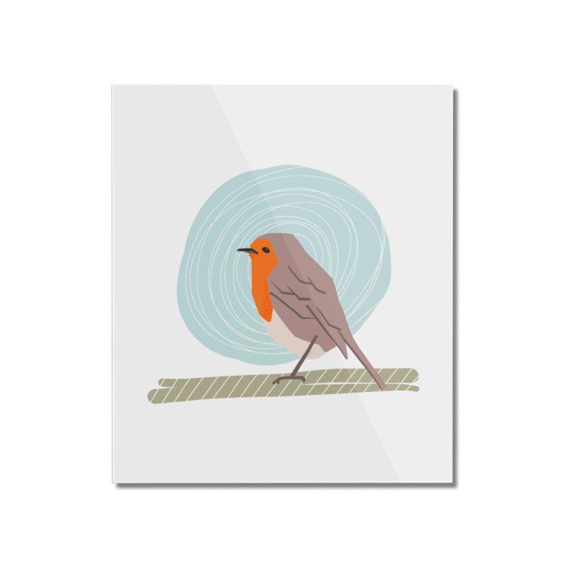 Happy Robin Home Mounted Acrylic Print by Sam Osborne Store