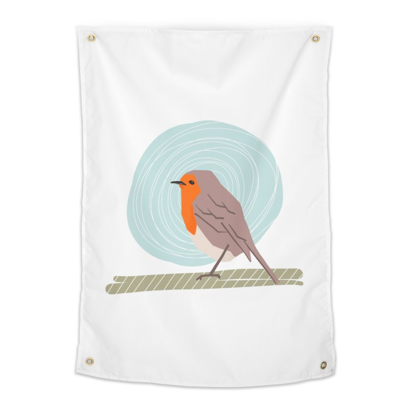 Happy Robin Home Tapestry by Sam Osborne Store