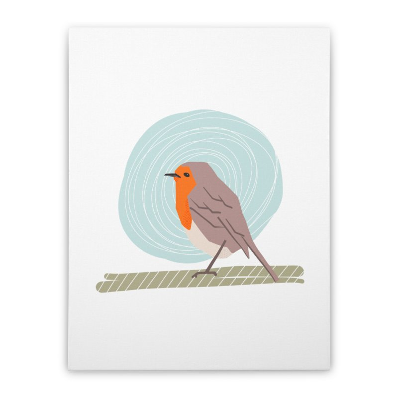 Happy Robin Home Stretched Canvas by Sam Osborne Store