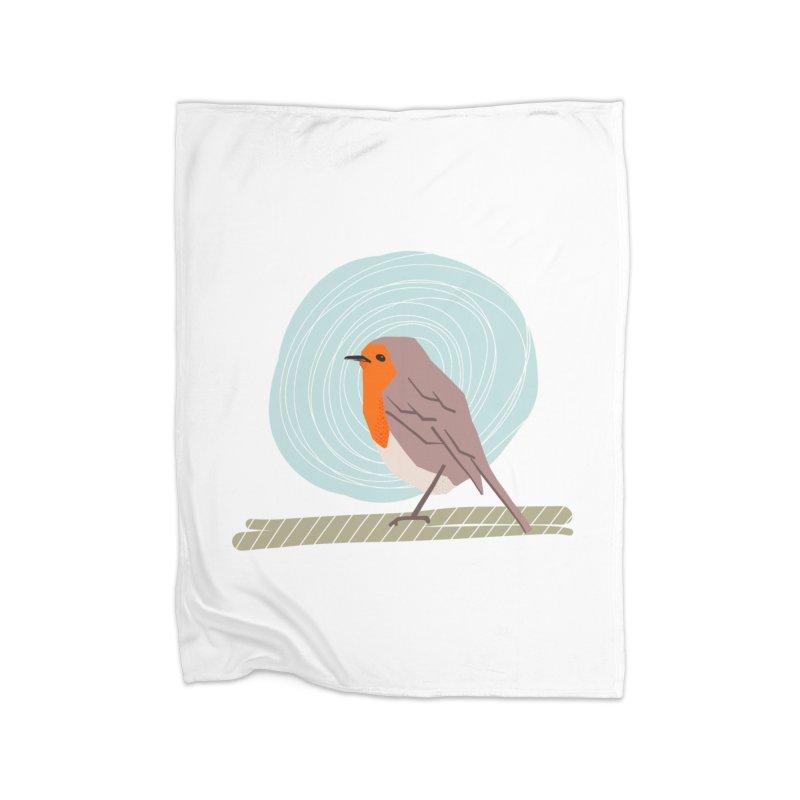 Happy Robin Home Blanket by Sam Osborne Store