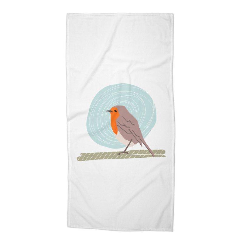 Happy Robin Accessories Beach Towel by Sam Osborne Store