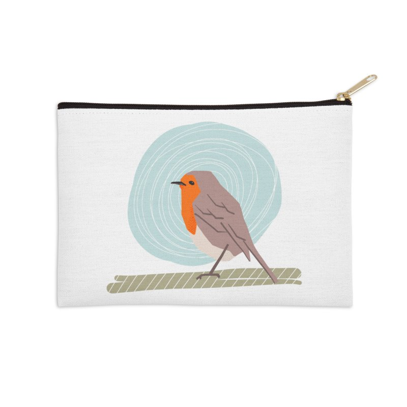 Happy Robin Accessories Zip Pouch by Sam Osborne Store