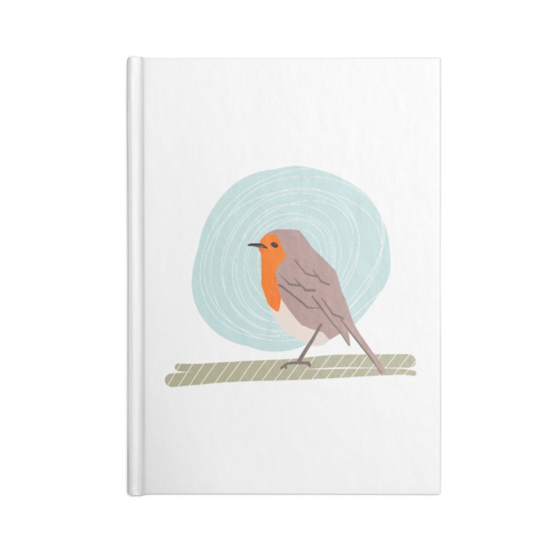 Happy Robin Accessories Lined Journal Notebook by Sam Osborne Store