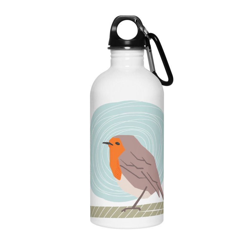 Happy Robin Accessories Water Bottle by Sam Osborne Store