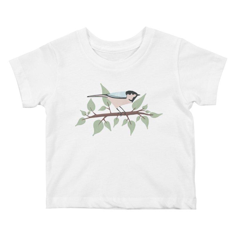 Bird in a tree Kids Baby T-Shirt by Sam Osborne Store