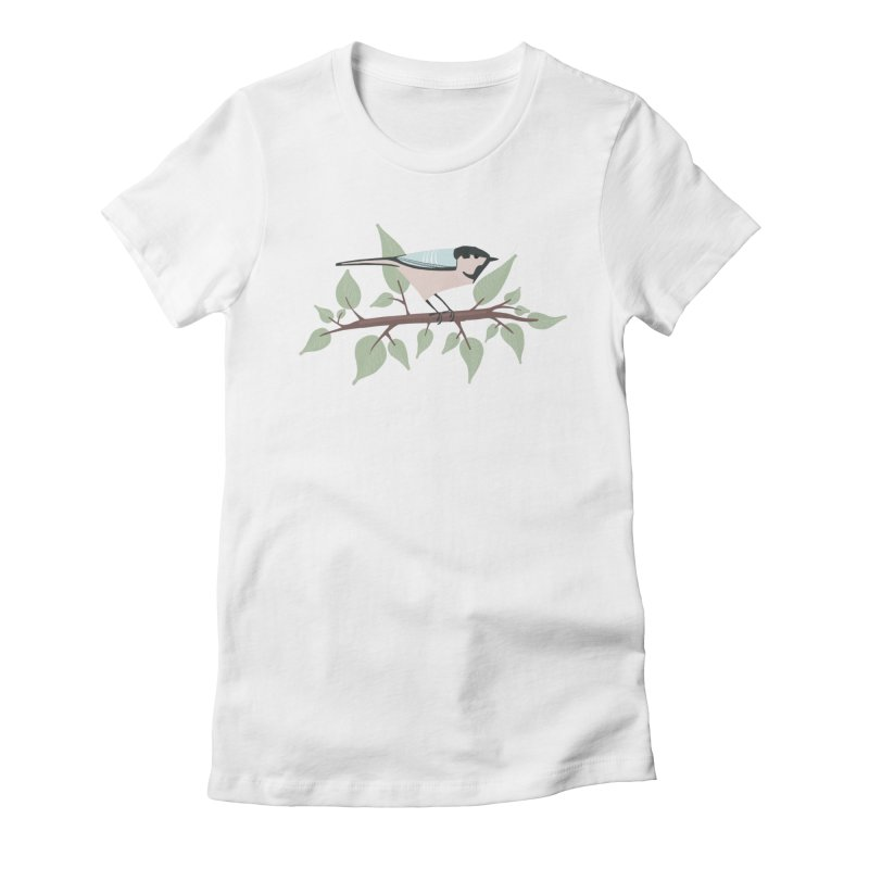 Bird in a tree Women's Fitted T-Shirt by Sam Osborne Store
