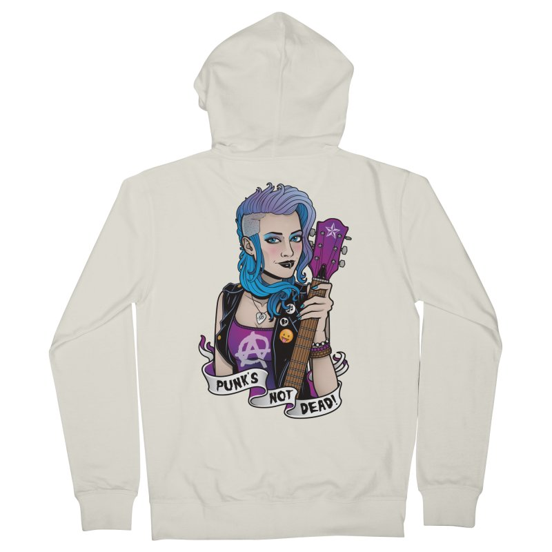 Punk's Not Dead Women's Zip-Up Hoody by Sam Phillips Illustration