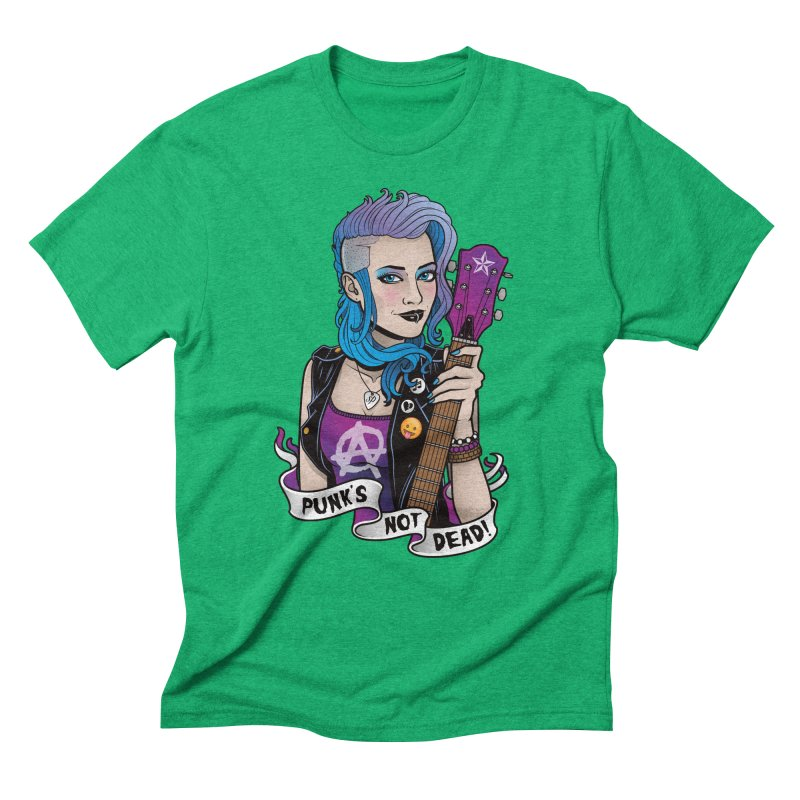 Punk's Not Dead Men's Triblend T-Shirt by Sam Phillips Illustration