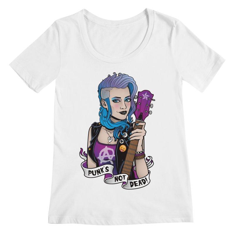 Punk's Not Dead Women's Scoopneck by Sam Phillips Illustration