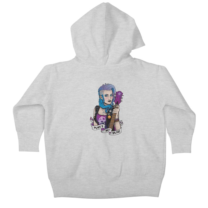 Punk's Not Dead Kids Baby Zip-Up Hoody by Sam Phillips Illustration