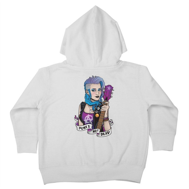 Punk's Not Dead Kids Toddler Zip-Up Hoody by Sam Phillips Illustration