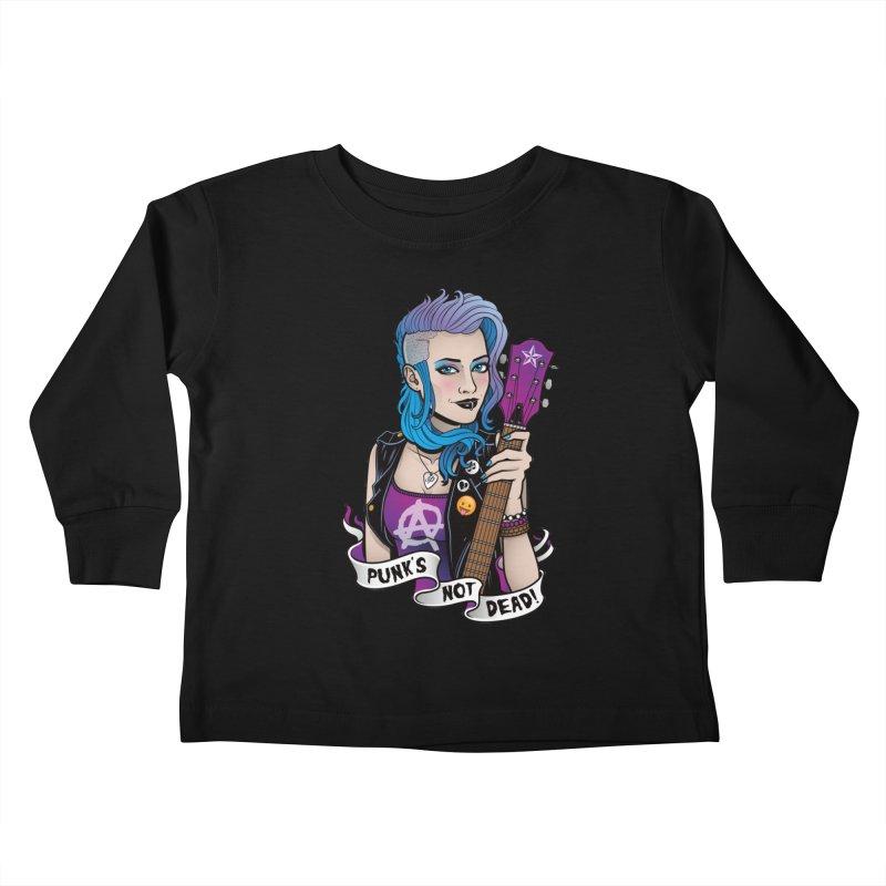 Punk's Not Dead Kids Toddler Longsleeve T-Shirt by Sam Phillips Illustration