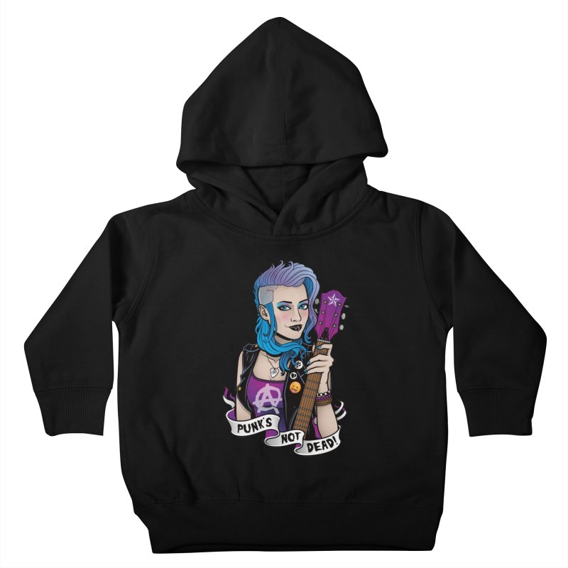Punk's Not Dead Kids Toddler Pullover Hoody by Sam Phillips Illustration