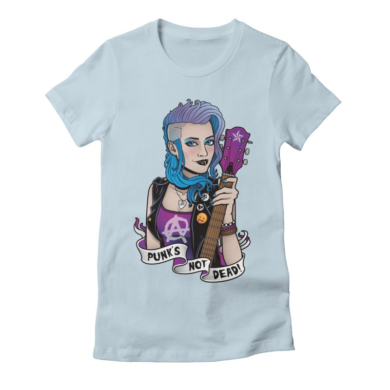 Punk's Not Dead Women's Fitted T-Shirt by Sam Phillips Illustration