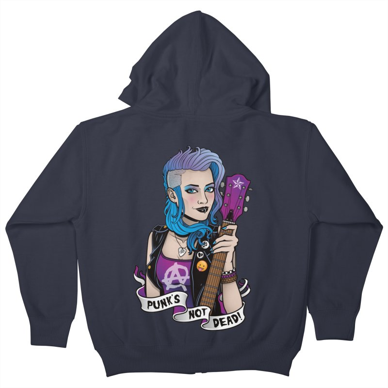 Punk's Not Dead Kids Zip-Up Hoody by Sam Phillips Illustration