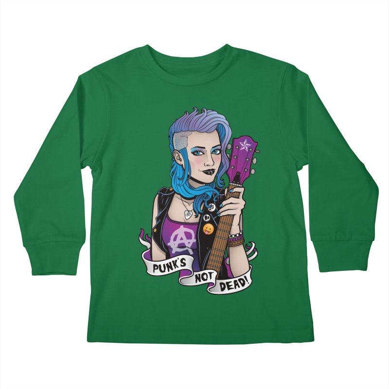 Punk's Not Dead Kids Longsleeve T-Shirt by Sam Phillips Illustration