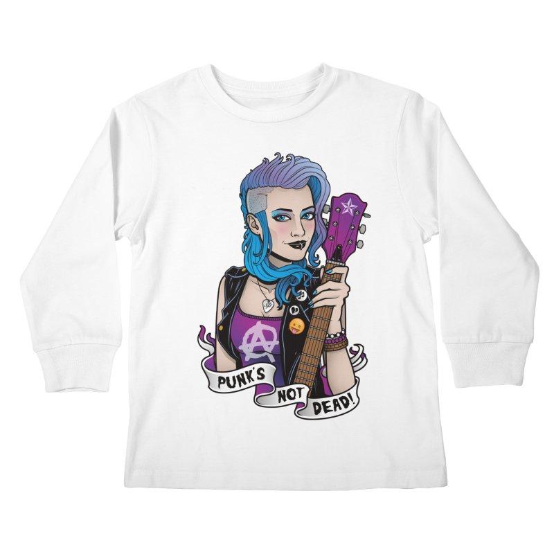 Punk's Not Dead Kids Longsleeve T-Shirt by Sam Phillips Illustration