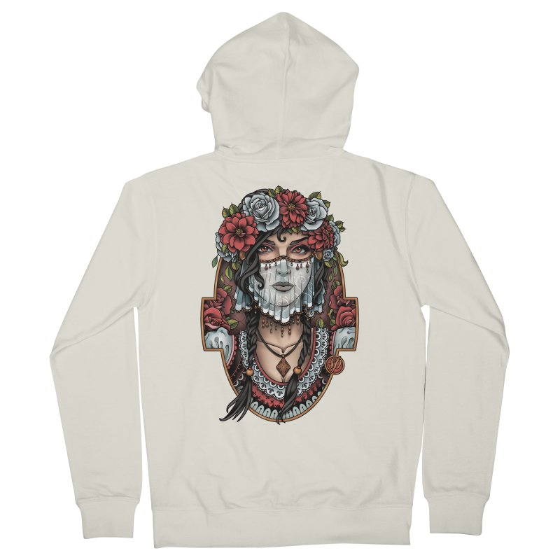 Beautiful Bride Men's Zip-Up Hoody by Sam Phillips Illustration