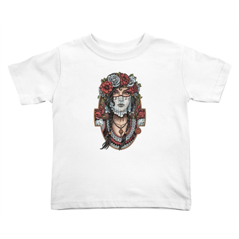 Beautiful Bride Kids Toddler T-Shirt by Sam Phillips Illustration